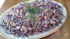 Vynikající lehký zelný salát se zálivkou z bílého jogurtu a zakysané smetany | NejRecept.cz