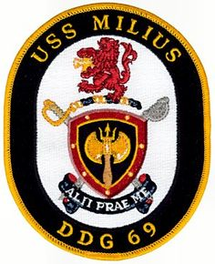 USS Milius (DDG-69) ship`s patch
