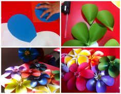 Art ,Craft ideas and bulletin boards for elementary schools: Simple 3D flower tutorial
