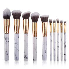 Highlighter Brush, Mascara Brush, Eyebrow Brush, Concealer, It Cosmetics Brushes, Eyeshadow Brushes, Makeup Brushes, Black Hair Makeup, Makeup Brush Bag
