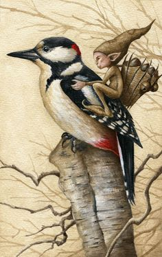 Pixy and Woodpecker by Markelli on deviantART