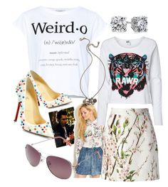 """""""White and weird"""" by lizts ❤ liked on Polyvore featuring Pull&Bear, Vero Moda, Christian Louboutin, Blue Nile, Dolce&Gabbana, Polaroid Eyewear and Chanel"""