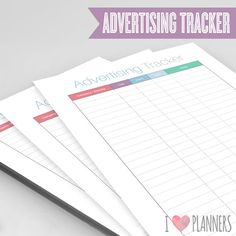 Blog Advertising Tracker   Instant Download PDF by ILovePlanners