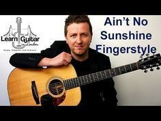 Fingerstyle instrumental guitar tutorial with free TAB for Ain& No Sunshine by Bill Withers. You can get the TAB for FREE by joining the LGIL Student Area: . Guitar Chords And Lyrics, Guitar Strumming, Guitar Chords Beginner, Easy Guitar Songs, Fingerstyle Guitar, Guitar Tabs, Music Guitar, Cool Guitar, Playing Guitar