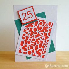 Age Number Panel with Asst numbers - Use for Multiple age card. Silhouette Cameo Cards, Free Silhouette, Vinyl Projects, Projects To Try, Handmade Birthday Cards, Handmade Cards, Diy And Crafts, Paper Crafts, Cricut Cards