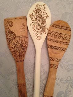 Tried wood burning spoons-AMarshallArts