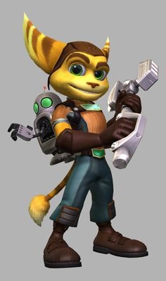 I like this picture of ratchet and Clank because the artist has created a happy character with a smile, plus the detail makes the character look like a good super hero/character. Ratchet and clank is a 3d platform genre that mainly children will play. This image makes me feel interested in the game.