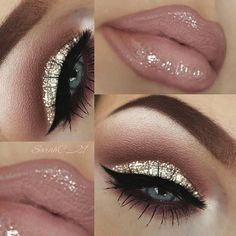 """188 Likes, 3 Comments - Mary (@maryhadalittleglam) on Instagram: """"#Repost @melissasamways♡ ・・・♡ ♡ ♡ Hey Loves! Champagne Smokey Eye Makeup TUTORIAL Link in my…"""""""