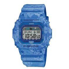 Casio Watch GLX-5600F-2DR G-Shock Digital Men Light Blue/Floral Strap (ORIGINAL)
