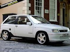 Vauxhall Nova GTE Too fast for it's own good but great fun Classic Motors, Classic Cars, Retro Cars, Vintage Cars, Nova, Cool Old Cars, Dream Car Garage, Modified Cars, Hot Cars