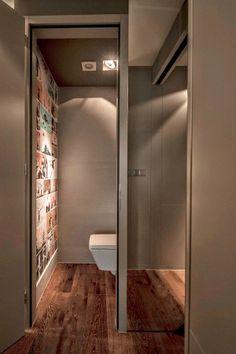 Blog wnętrzarski - design, nowoczesne projekty wnętrz: Szare mieszkanie 40m2 położone w Budapeszcie - nowoczesne wnętrze