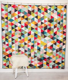 Tri Love Quilt Kit featuring Mod Basics Solids