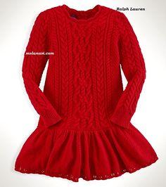 Los hermosos vestidos de punto para niñas