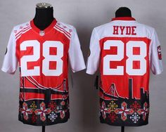 25 Nike  49ers  28  CarlosHyde Red Men s Stitched NFL Elite Noble Fashion  Jersey b15d44429