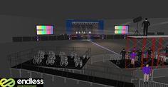 Indoor concert setup. #CADdesign #helloendless #endlessentertainment #design #concerts