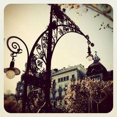 Gated light fixture, Barcelona