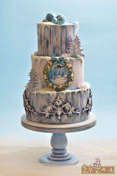 Pin by masha on devil vs angel cake pinterest cake cake designs christmas magic cake by nasa mala zavrzlama altavistaventures Images