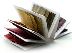 Natural dye swatch book | Pinked edges & concertina folding |