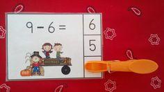 Harvest Hayride Subtraction Math Centers (Sums of 0 to 10)  $  #hayride   #harvest  #fall  #subtraction  http://www.teacherspayteachers.com/Product/Harvest-Hayride-Subtraction-Math-Centers-Minuends-to-10-949180