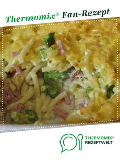 Pasta bake with broccoli from HXENZAUBER. A Thermomix ® recipe from the category other main dishes on www.de, the Thermomix ® Community. Pasta bake with broccoli Joana Andrade Thermomix Pasta bake with broccoli from HXENZ Pasta Casserole, Casserole Dishes, Meat Recipes, Dinner Recipes, Broccoli Pasta Bake, Broccoli Casserole, Cooking Dishes, Spaghetti Recipes, Vegetable Dishes