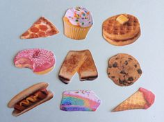 food stickers choose 3 by SassyStickers on Etsy