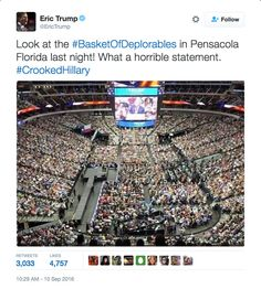 Eric Trump Tweets Out Fake Photo Of Rally