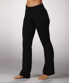 4df83edef19ae Love this Black Tummy-Control Yoga Pants by Marika on  zulily!  zulilyfinds