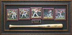 Joey Votto Autographed Baseball Bat Framed | Signed Baseball, Photo