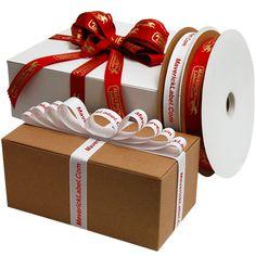 Custom Printed Ribbons - MaverickLabel.Com, Inc.    (600 pc/roll @ $52/roll = .09/pc)