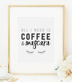 Tutto quello che serve è caffè e Mascara di RainCityDesignCo