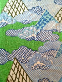 Vintage Bill Blass Twin Bedspread Pair Mod Retro Fabric