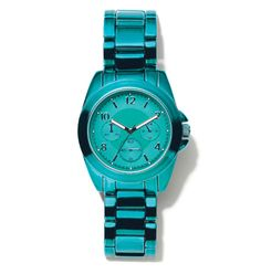 Take Your Time Watch | mark $40 Our latest over-sized watch is bright on time for summer, in bold teal aluminum. #watch