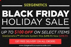 SizeGenetics Black Friday Sales | Black Friday 2015 Deals  #SIzegenetics   #SizeGeneticsCoupons   #SizegeneticsCouponCode   #BuySizeGenetics   #SizeGeneticsdiscountCode   #BuySizeGenetics     #SizeGeneticsBlackFriday   #BlackFridayDeals   #BlackFridaySales  http://www.sizegeneticscouponscode.com/coupons/sizegenetics-black-friday-sales-black-friday-2015-deals/