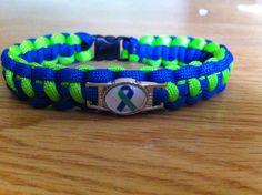 IIH Awareness Paracord Bracelet by MonkeyKnotsParacord on Etsy, $10.00