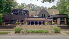 House, Frank Lloyd Wright Home and Studio. Oak Park, Illinois. 1889