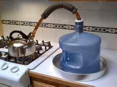Simple #DIY water distillation.  This is a simple way to distill dirty water… #prepperstorage