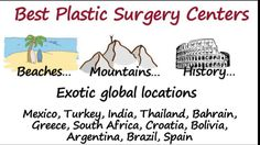 Are you looking for affordable #cosmetic/plastic surgery options #abroad? Take a cosmetic vacation. Save up to 70% on affordable prices of top plastic surgeons with #beautiful outcomes. Call us now at +1.303.500.3821 or email us at info@placidway.com for more information.