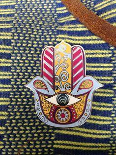 Bass Hamsa Hat Pin  Bassnectar Pin by CreativeInceptions on Etsy