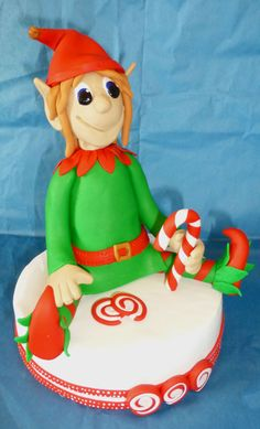 So this cute Christmas Elf cake topper is the latest creation from my craft room. The cake topper was sculpted by hand in Premo polymer clay. This one was a custom order for a customer in Austral…