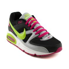 Womens Nike Air Max Command Athletic Shoe, Black Gray Volt Journeys Shoes