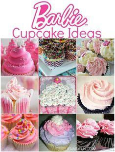 Barbie Birthday Party Cupcake Ideas