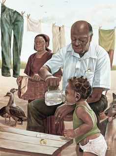 African American Father Art We Adore Father's day is right around the corner. A Black Southern Belle is raised to be a Daddy's girl. He spoils her and protects her and contributes to her high standards in life and teaches and… Black Art Painting, Black Artwork, Time Painting, Black Love Art, Black Girl Art, Dope Kunst, Arte Black, Wal Art, Afrique Art