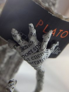 Paper anniversary lovers repurposed book book by ThePoetTrees