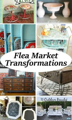 Are you a garage sale or flea market fanatic? Now that the weather is cooling off in my area, there are garage sales galore, and I co. Brilliant diy and craft ideas to recycle, upcycle, and repurpose those flea market and yard sale finds. Repurposed Items, Upcycled Crafts, Repurposed Furniture, Refurbished Furniture, Thrift Store Furniture, Recycled Decor, Upcycled Furniture Before And After, Upcycled Home Decor, Thrift Store Crafts