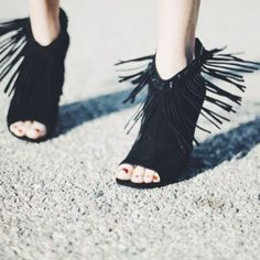 Ash - Janis Fringe Booties. Not really a fringe girl, but these are fringin' awesome.