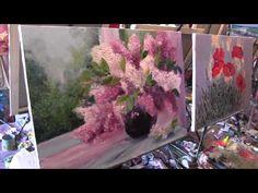 """Видеоурок Сахарова """"Как научиться рисовать цветы, розы"""" живопись для начинающих, уроки рисования - YouTube"""