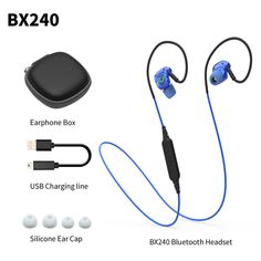 Plextone BX240 Auriculares Bluetooth Earphone Sports Wireless HIFI Headset Stereo Waterproof Headphone Airpods for iPhone 7 Plus