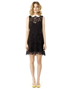 339884339 ELLE by RW CO. - Crochet shift dress with removable Peter Pan collar Peter  Pan Collars