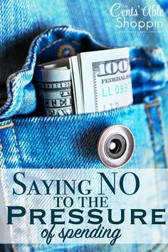 Saying NO to the Pressure of Spending