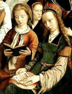 "Gerars David, Siglo XVI ""Virgen entre vírgenes"""